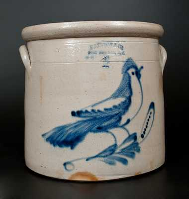 HAXSTUN & CO. / FORT EDWARD, N.Y. Stoneware Bird Crock