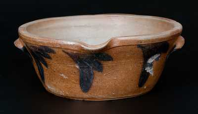 Cobalt-Decorated Stoneware Milkpan, Baltimore, MD origin, circa 1875