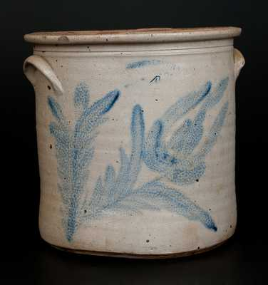 4 Gal. H. B. PFALTZGRAFF / YORK, PA Stoneware Crock with Large Floral Decoration