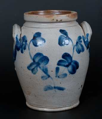 1 Gal. Philadelphia Ovoid Stoneware Jar with Floral Decoration