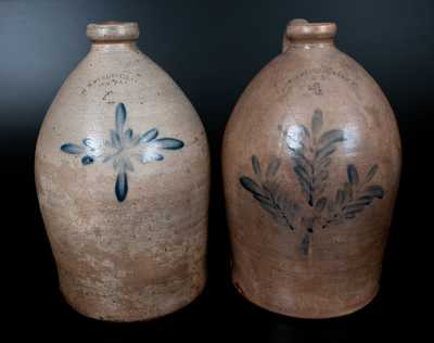 Lot of Two: H. B. PFALTZGRAFF / YORK, PA 4 Gal. Stoneware Jugs