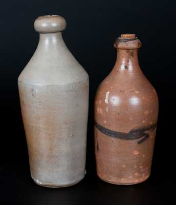 Lot of Two: Stoneware Bottles, one Impressed L. W. SMITH