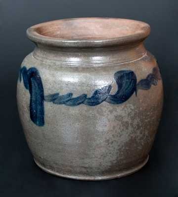 Rare att. Henry Glazier (Huntingdon, PA) Squat-Shaped Stoneware Jar