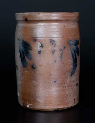 1/4 Gal. Stoneware Jar att. R. J. Grier, Chester County, PA