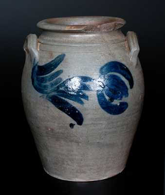 James River Virginia Stoneware Jar with Cobalt Floral Decoration