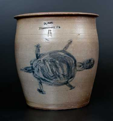 Extremely Rare D. Ack / Mooresburg, Pa Stoneware Turtle Crock