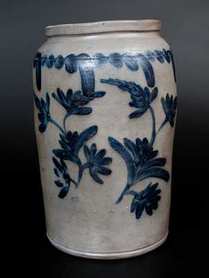 Pennsylvania Stoneware Jar with Profuse Cobalt Decoration