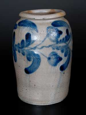 H.C. SMITH / ALEXA / D.C. Stoneware Jar w/ Cobalt Floral Decoration