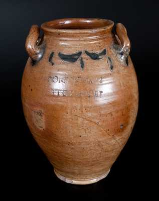 COMMERAWS STONEWARE Jar w/ Impressed Decoration, Manhattan, circa 1810