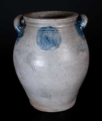 Two-Gallon Manhattan or New Jersey Open-Handled Stoneware Jar