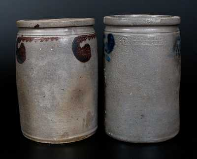 Lot of Two: Strasburg, VA Stoneware Crocks (GEO. W. MILLER and att. S. BELL & SON)