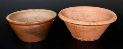 Lot of Two: Stoneware Bowls with Unusual Coggled Interiors