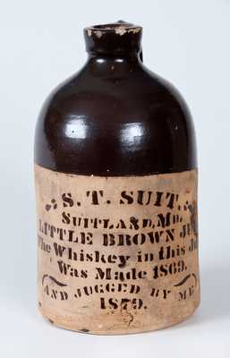 S. T. SUIT / SUITLAND, MD Tanware Whiskey Jug