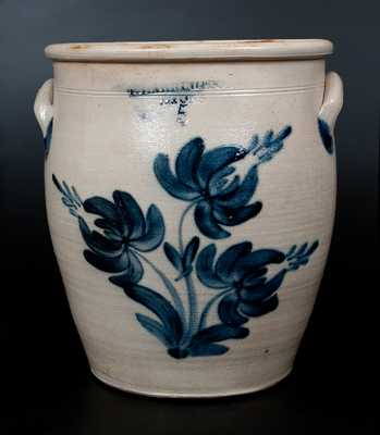 T. HARRINGTON / LYONS Stoneware Jar w/ Profuse Tulip Decoration
