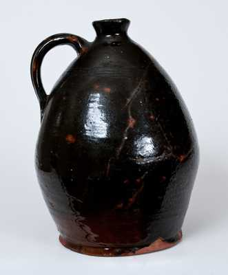 Ovoid New England Redware Jug
