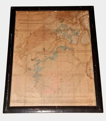 Very Rare 1877 MAP OF THE CLAY DISTRICT OF MIDDLESEX CO. (New Jersey)
