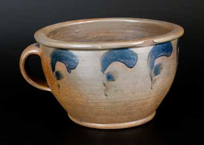 Decorated Stoneware Chamberpot att. J. Swank, Johnstown, PA