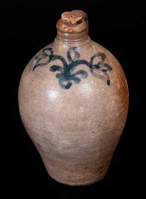 Small-Sized 18th Century Stoneware Jug, probably Capt. James Morgan, Cheesequake, NJ
