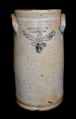 Rare SWAN & STATES / STONINGTON (CT) Incised Stoneware Churn