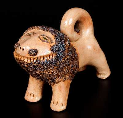 Fine Contemporary Solomon Bell Style Redware Lion by Billy Ray Hussey