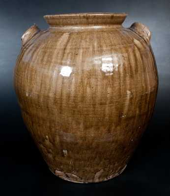 Monumental 10 Gal. Stoneware Jar with Dramatic Alkaline Glaze, possibly W. F. Hahn, Trenton, SC