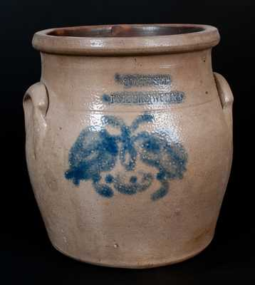 SOMERSET POTTERS WORKS, Somerset, MA Stoneware Jar with Floral Decoration