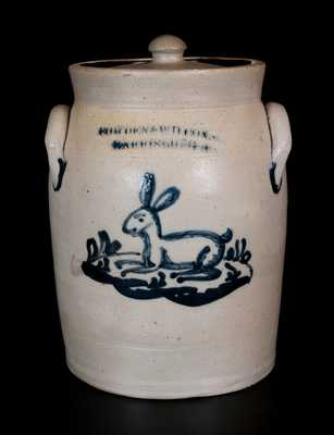 Exceedingly Rare COWDEN & WILCOX / HARRISBURG. PA Rabbit Crock