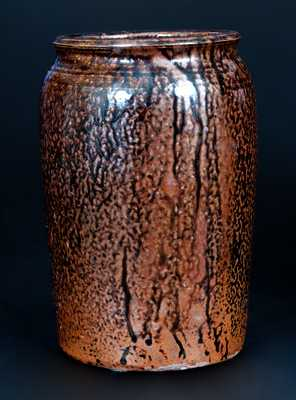 J.S. NASH, (Jefferson S. Nash, possibly Milligan Frazier) Marion County, Texas Stoneware Jar
