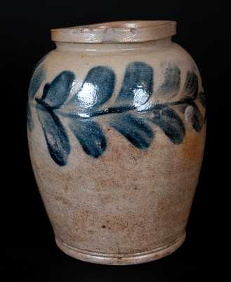 Scarce H. MYERS Half-Gallon Stoneware Jar, Baltimore Stoneware Manufactory