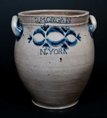 D. MORGAN / N. YORK (David Morgan, Lower East Side, Manhattan) Stoneware Crock
