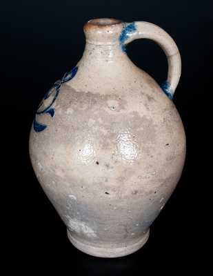 Fine New York City Stoneware Jug with Incised Floral Decoration