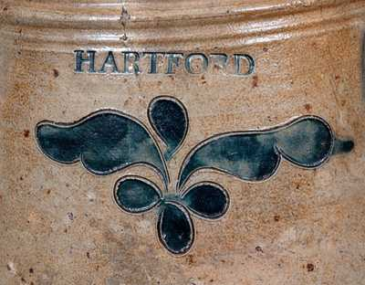 Important Three-Gallon P. CROSS / HARTFORD Incised Stoneware Churn, c1806-08