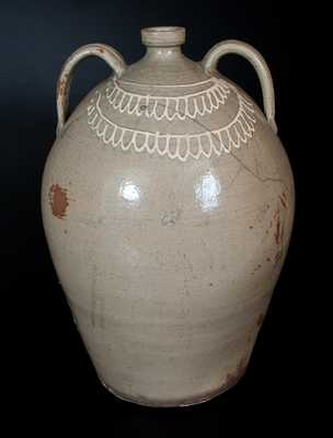 Very Rare CHANDLER MAKER Monumental Double-Handled Stoneware Jug