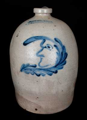 COWDEN & WILCOX / HARRISBURG, PA Stoneware Man-in-the-Moon Jug