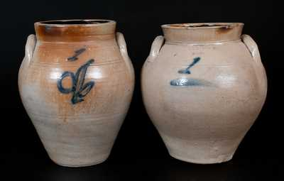 Lot of Two: Stoneware Jars Marked LYONS and N. CLARK & CO. / LYONS
