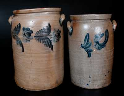 Lot of Two: Baltimore, MD Stoneware Jars incl. Three-Gallon P. HERRMANN Example