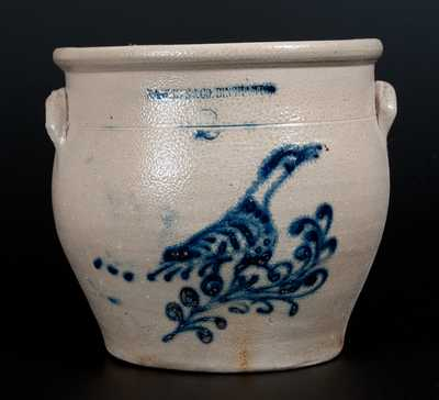 Two-Gallon N.A. WHITE & CO. BINGHAMTON Stoneware Bird Jar