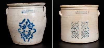 Two F. H. COWDEN / HARRISBURG, PA Stoneware Pieces