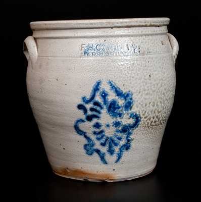 F. H. COWDEN / HARRISBURG, PA Stoneware Jar with Stenciled Decoration