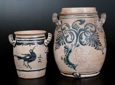 Two Pieces of Westerwald Stoneware, German origin, 19th century