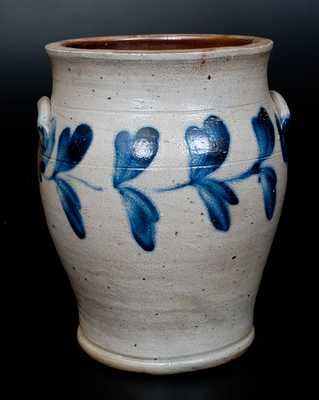 Four-Gallon Stoneware Jar w/ Cobalt Decoration, Richard Remmey, Philadelphia