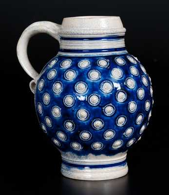 Westerwald Stoneware Mug with Applied Decoration, 17th century