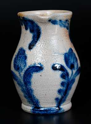 Fine One-Quart Richard Remmey, Philadelphia, Stoneware Pitcher w/ Bold Tulip Decoration