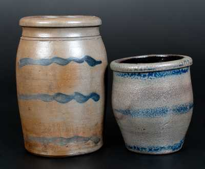 Lot of Two: Western PA Stoneware Jar with Striped Decoration