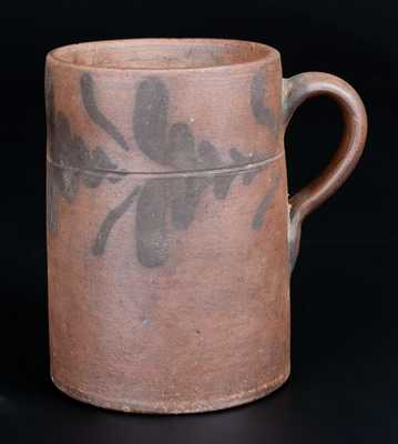 Extremely Rare att. Rockingham County, Virginia Decorated Stoneware Mug