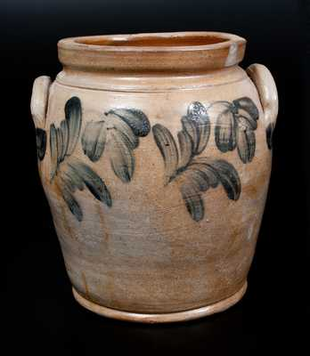 Bulbous Remmey, Philadelphia Stoneware Jar with Floral Decoration