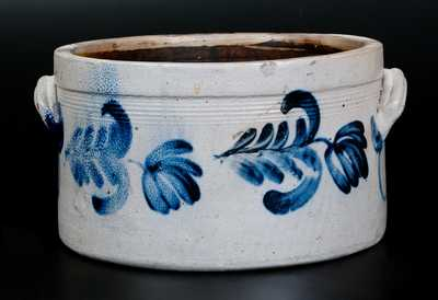 2 Gal. Decorated Stoneware Cake Crock, Remmey, Philadelphia, circa 1860