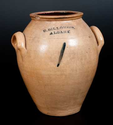 Rare C. DILLON & CO. / ALBANY Ovoid Stoneware Jar