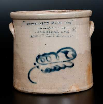 Stoneware Jar with JERSEY CITY HEIGHTS Impressed Advertising