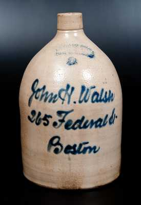 OTTMAN BROS. / FORT EDWARD, NY Stoneware Boston Advertising Jug